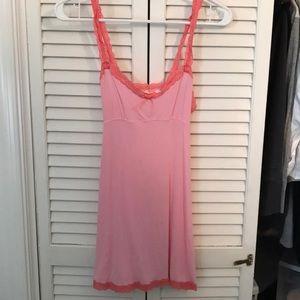 Victoria's Secret Angels Pink Lace Slip Chemise